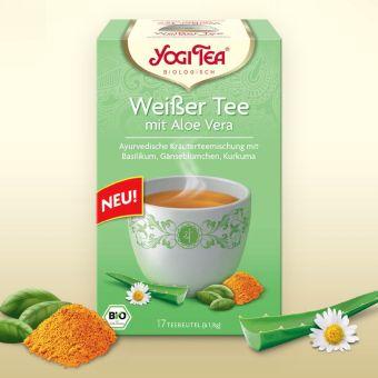 YOGI TEE Weisser Tee mit Aloe Vera / BIO 17 x 1.8 g