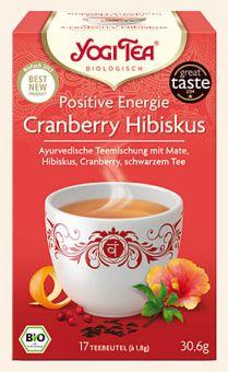 YOGI TEE Positive Energie Cranberry Hibiskus / BIO 15 x 1.8 g