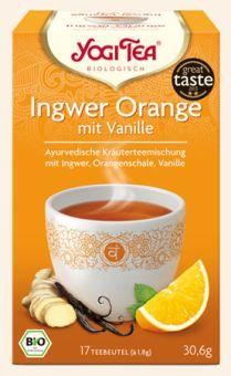 YOGI TEE Ingwer Orange mit Vanille / BIO 17 x 1,8 g