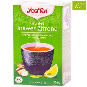 YOGI TEE Grüntee Ingwer Zitrone / BIO 17 x 1,8 g