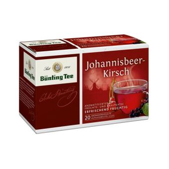 Bünting Tee Früchtetee Johannisbeer-Kirsch 20 x 2.5 g