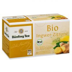 Bünting Tee Ingwer-Zitrone / BIO 20 x 2.0 g