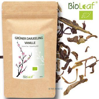 Grüner Darjeeling Vanille natürlich - BIO 250 Gramm
