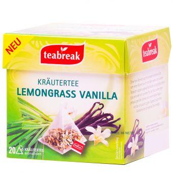 Teabreak® Kräutertee Lemongrass Vanilla 20 x 2.0 g