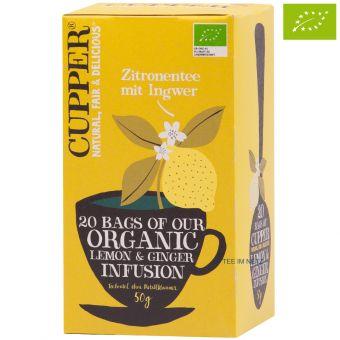 Cupper® Zitronentee mit Ingwer / BIO 20 x 2,5 g