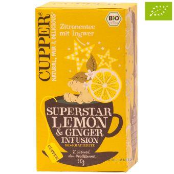 Cupper® Superstar Zitronentee mit Ingwer / BIO 20 x 2,5 g