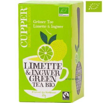 Cupper® Limette & Ingwer Green Tea / BIO 20 x 1,75 g
