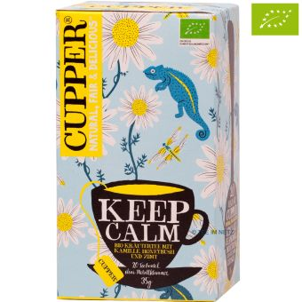 Cupper® Keep Calm (Kamille, Honeybush, Zimt) / BIO 20 x 1,75 g