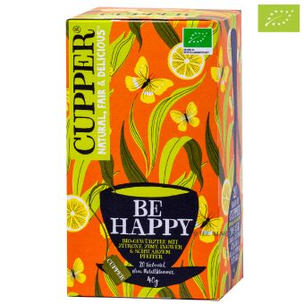 Cupper® Keep Be Happy (Zitrone Zimt Ingwer) / BIO 20 x 2.0 g