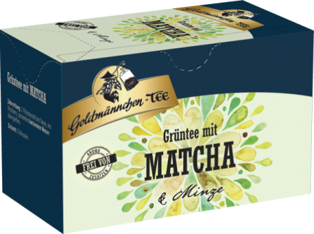 Goldmännchen-Tee Grüntee Matcha mit Minze 20 x 1.4 g