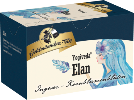 Goldmännchen-Tee Yogiveda Elan / Ingwer Kornblumenblüten 20 x 1.5 g