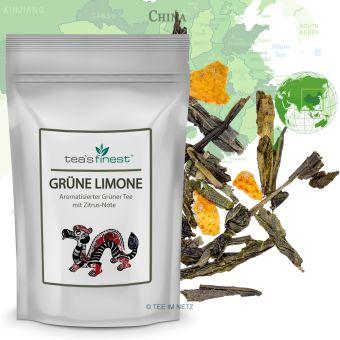 Grüner Tee Grüne Limone