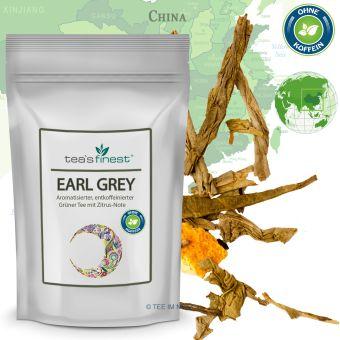 Grüner Tee Earl Grey (entkoffeiniert)