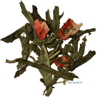 Grüner Tee Sencha Erdbeer (entkoffeiniert) 100 Gramm