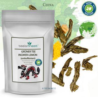 Grüner Tee Ingwer-Lemon (entkoffeiniert) 250 Gramm