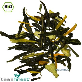 Grüner Tee Mandarine-Vanille / BIO 100 Gramm