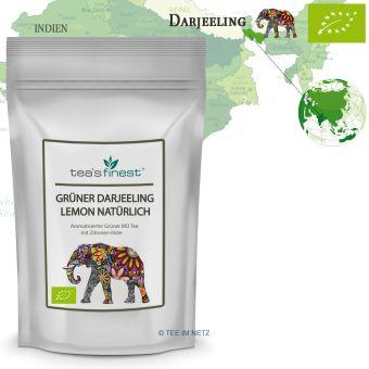 Grüner Tee Darjeeling Lemon natürlich - BIO 100 Gramm