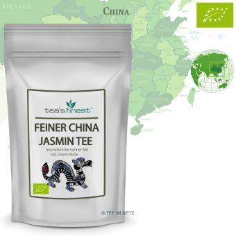Feiner Grüner Jasmin Tee - BIO 500 Gramm