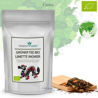 Grüner Tee Limette-Ingwer - BIO 100 Gramm