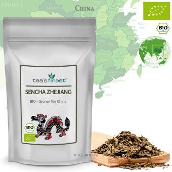 Grüner Tee Sencha Grün Zhejiang - BIO 250 Gramm
