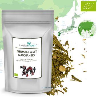 Grüner Tee Japan Genmaicha mit Matcha - BIO