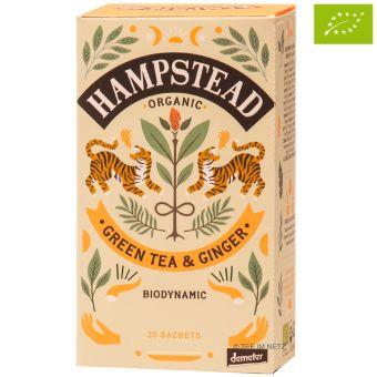 Hampstead Tee Organic Green Tea & Ginger  im Teebeutel - BIO 20 x 2.0 g