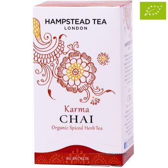 Karma Chai Organic Spiced Herb Tea / Hampstead Tea - BIO 20 x 2 g