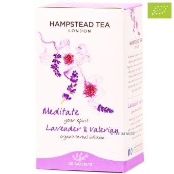 Hampstead Tea Meditate your spirit Lavender & Valerian  -BIO 20 x 1 g