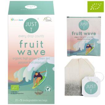 JUST T® fruit wave (Grüner Tee Tropic) / BIO 20 x1.5 g
