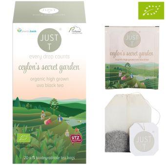 JUST T® ceylon´s secret garden (UVA Black Tea) / BIO 20 x 2.0 g