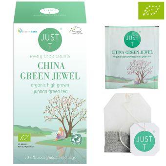 JUST T® CHINA GREEN JEWEL (Grüntee Yunnan) / BIO 20 x 2.0 g