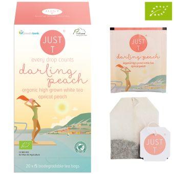 JUST T® darling peach (Weisser Tee Pfirsich/Aprikose) /  BIO 20 x 1.0 g