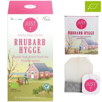 JUST T® RHUBARB HYGGE (Schwarztee Vanille Rharbarber) / BIO 20 x 1.75 g
