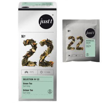 just t® N°.22 Grüner Tee Earl Grey 25 x 1.25 g