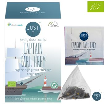 just t® CAPTAIN EARL GREY - BIO / Pyramidenbeutel 20 x 2.5 g