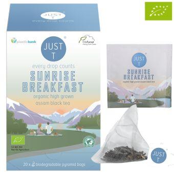 JUST T® SUNRISE BREAKFAST ( Assam) - BIO / Pyramidenbeutel 20 x 3.0 g