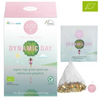 JUST T® DYNAMIC DAY (Grüntee Matcha)-BIO / Pyramidenbeutel 20 x 1.5 g