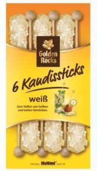 Weiße Kandissticks 6 x 12.5 g