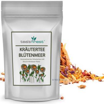 Kräutertee Blütenmeer (Kirsch-Himbeer) 100 Gramm