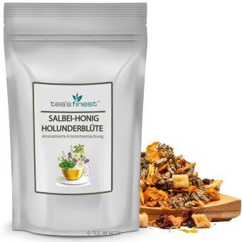 Kräutertee Salbei-Honig-Holunderblüte