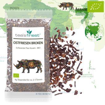 Schwarzer Tee Assam Ostfriesen Broken Tee - BIO 4 Gramm