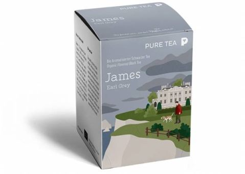 PURE TEA Schwarzer Tee Earl Grey James / BIO 15 x 3.0 g