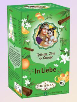 Shoti Maa Tea In Liebe / Grüntee Zimt Bergamotte - BIO 16 x 1.8 g