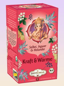 Shoti Maa Tea Kraft & Wärme / Salbei Ingwer Holunder - BIO 16 x 2.0 g