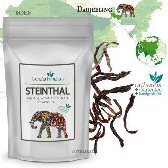 Schwarzer Tee Darjeeling Steinthal SF TGFOP1 Second Flush 100 Gramm