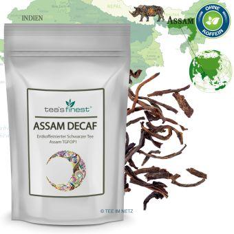 Schwarzer Tee Assam TGFOP1 (entkoffeiniert) 250 Gramm