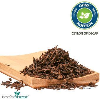 Schwarzer Tee Ceylon OP (entkoffeiniert) ca. 4 Gramm