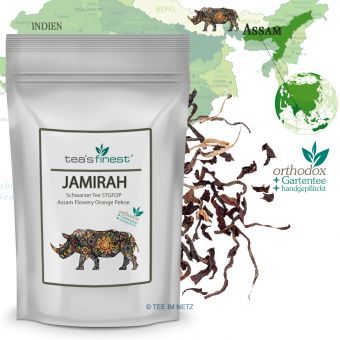 Schwarzer Tee Assam Flowery Orange Pekoe Jamirah STGFOP 100 Gramm
