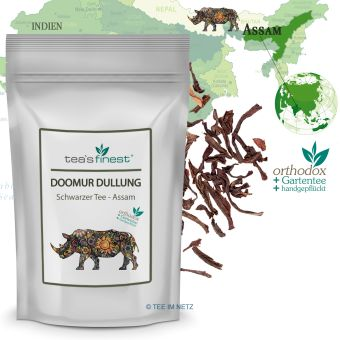 Schwarzer Tee Assam Blatt-Tee Doomur Dullung TGFOP