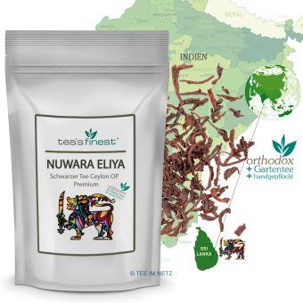 Schwarzer Tee Nuwara Eliya Ceylon OP Premium 100 Gramm